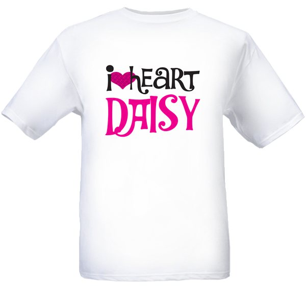I heart Daisy custom tee