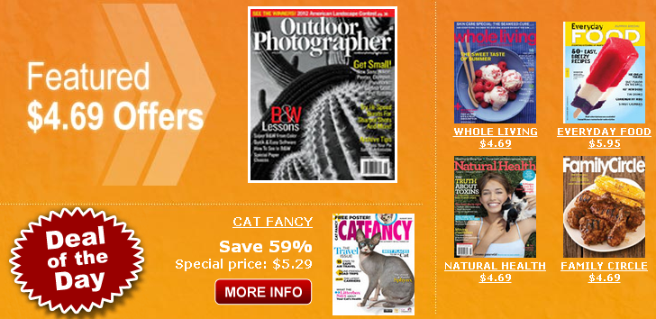 Magazine Deals and Promo Codes