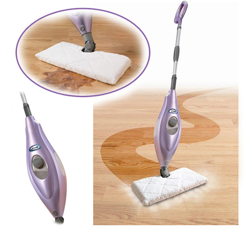 Shark Deluxe Steam-Pocket Mop w/ 180-Degree Swivel Steering, Adjustable Telescopic Handle & Carpet Glider!