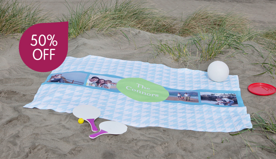 custom beach blanket