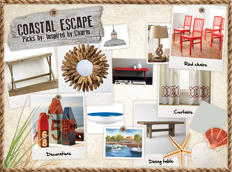 coastal escape dining room