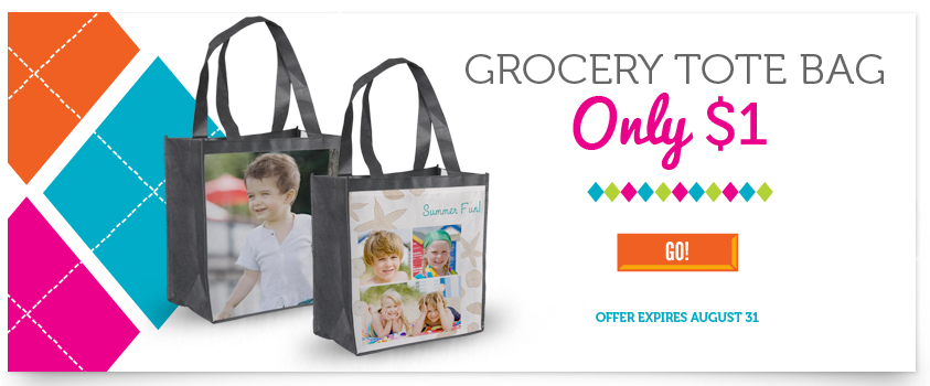 photo shopping tote, bag with your photo and text
