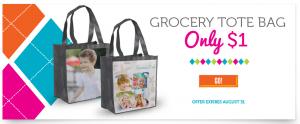 $1 grocery tote plus 40 free photo prints