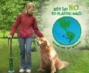 dog, poop pickup tool, auggie dog, yard tool, woman picking up dog poop