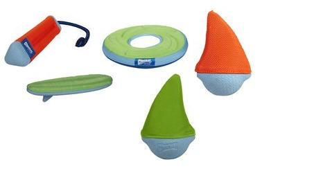 Chuckit, floating dog toys, orange dog toy, floating toy