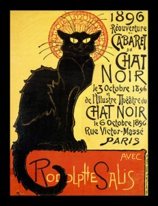 Chat Noir 26x34 Framed Canvas Print