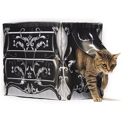 Fancy Litter Box Cover Dressed Up Kitty Cat Dressy