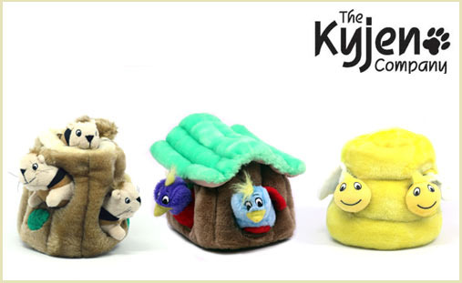 Kyjen Puzzle Toy for Dogs, Hide A Squirrel, Hide A Bird, Hide a Bee, kyjen, dog toy