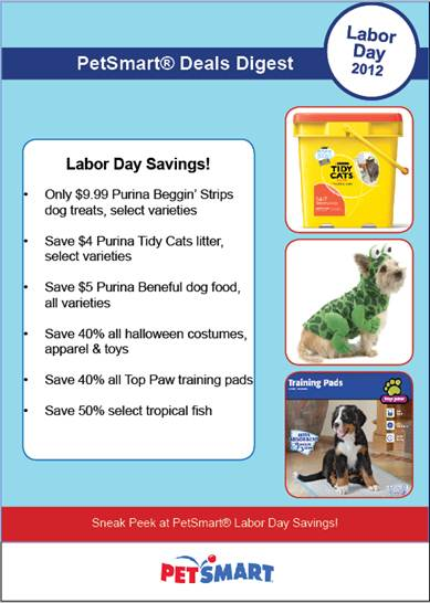 PetSmart Labor Day Deals