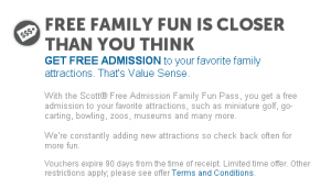 Scott Free admission family fun pass