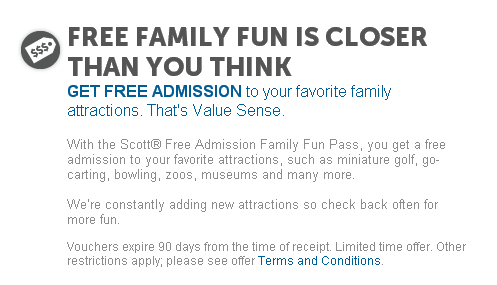 Scott Free admission family fun pass