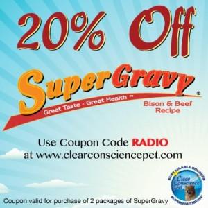 SuperGravy Promo Code, clear conscience pet