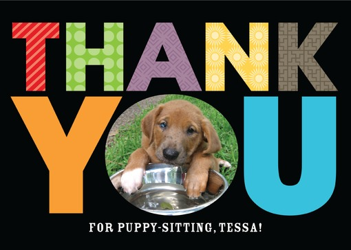 Thank You Card for Pet Sitter