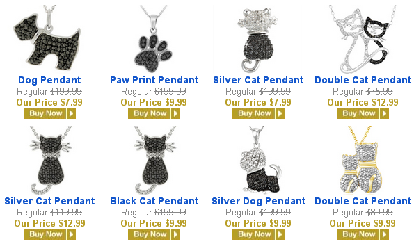 animal pendants on sale