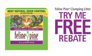free feline pine kitty litter with rebate offer