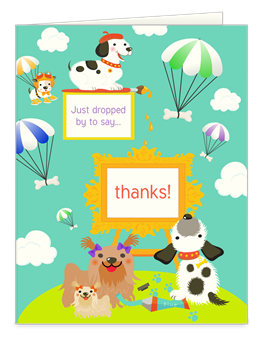 free thank you note cards with dog designs