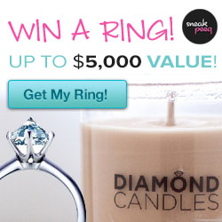 diamond candles 50 % off today only a ring worth up to $ 5000 in