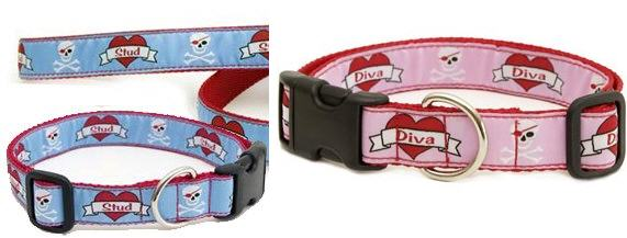 Diva and Stud collars on sale