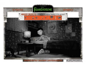 FRANKENWEENIE - Hidden Objects Printable Activity Sheet