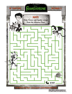 FRANKENWEENIE - Monster Pet Maze