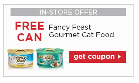 graphic regarding Fancy Feast Printable Coupons referred to as Free of charge Can of Extravagant Feast Cat Foods with Printable Petco Coupon