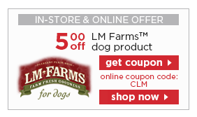 LM Farms dog products coupon