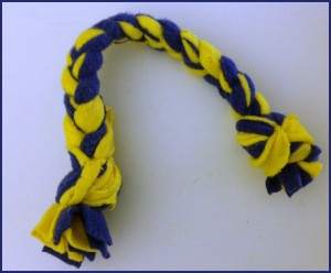 Maize and Blue Dog Tug Toy, DIY Pet Project