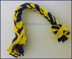 Maize and Blue Dog Tug Toy, DIY Pet Toy