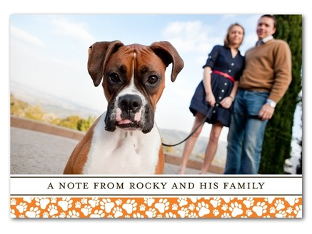 thank you note from dog and family