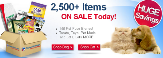 PetFoodDirect deals for dogs and cats