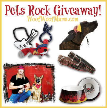 pets rock, rock and roll, music, dogs, bret michaels, petsmart, collar, bowl, dog toys