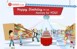 birthday deal free savings club membership