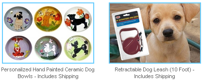 ceramic dog bowls and retractable dog leash