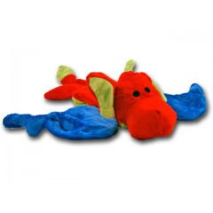 flatties red dragon dog toy