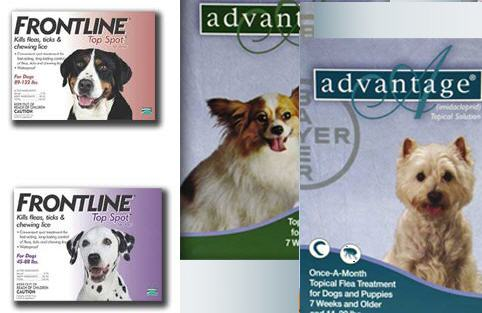 frontline, advantage, flea treatment, dogs, pet deals