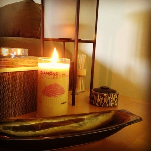 diamond candle instagram photo
