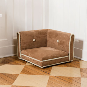 shearling corner dog bed