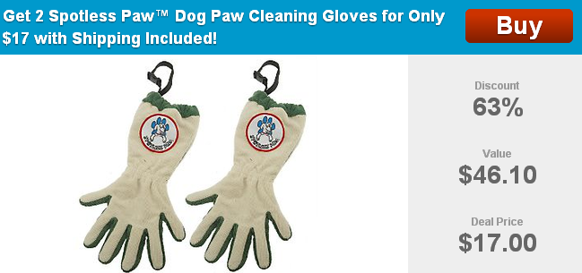 spotless paw dog cleaning gloves
