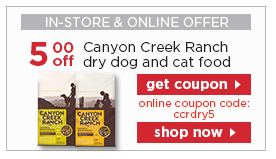 Canyon Creek Ranch pet food coupon