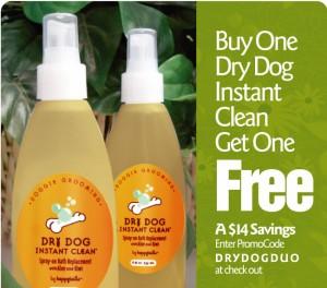 pet grooming, dry dog, shampoo spray