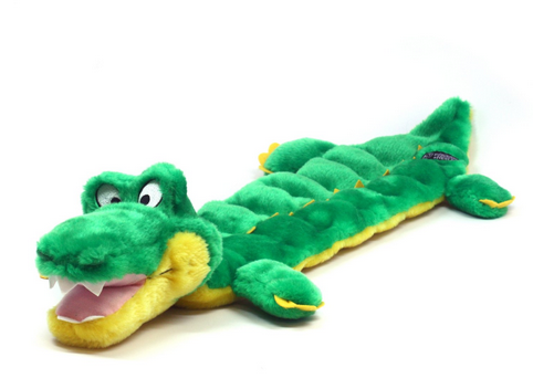 Kyjen Squeaker Mat Long Gator Dog Toy