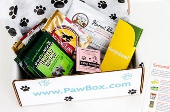 PawBox monthly box for dogs