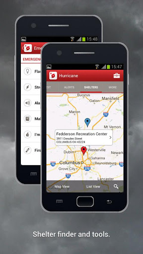 Red Cross Shelter Finder App