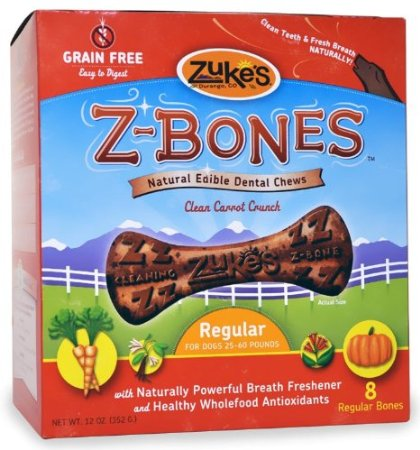 Zukes Z-Bones Dental Chews for Dogs