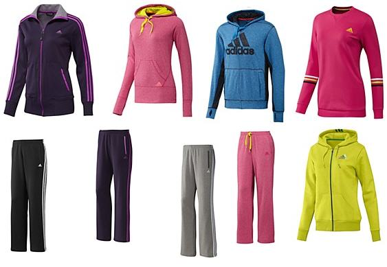 adidas fleece tops and pants