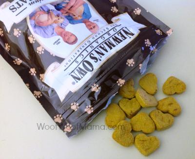 bag of newmans own organics heart cookies dog treats