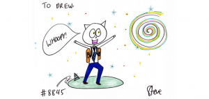 cat drawing by steve from shark tank