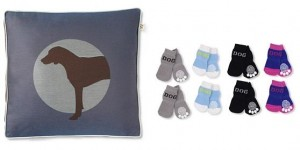 crypton hound pillow in lapis and socks for dogs