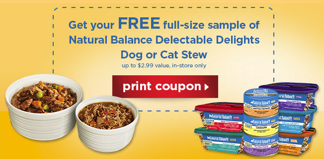 petco printable coupon for free dog or cat food from natural balance