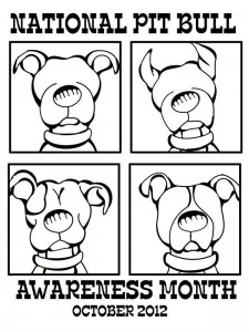 free printable for national pit bull awareness month